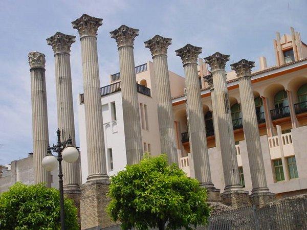 Baños Romanos Andalucia:Templo Romano (c/ Claudio Marcelo): Construcción religiosa del