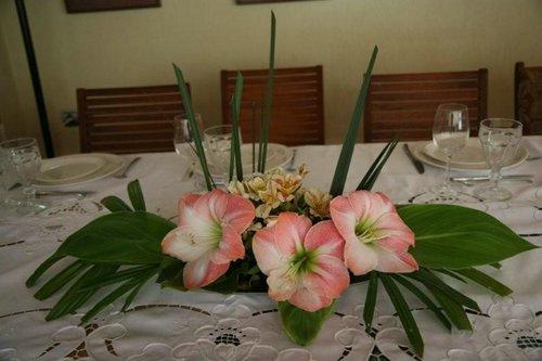 adorno de mesa de verano