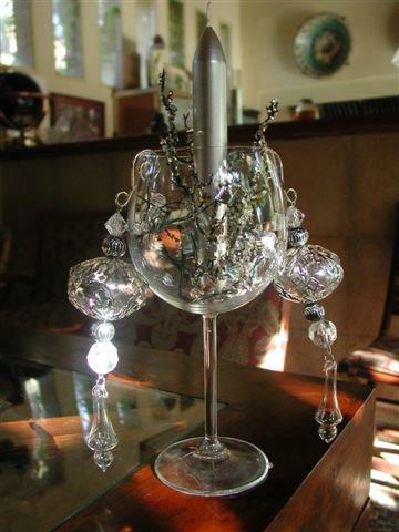 Rinconcito de amistad algunas manualidades cara a la for Adornos navidenos con copas y velas