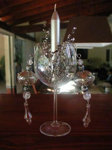 candelabro mesa navideña